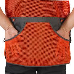 Chaleco Ball Trap Solognac Clay 500 Naranja Gris