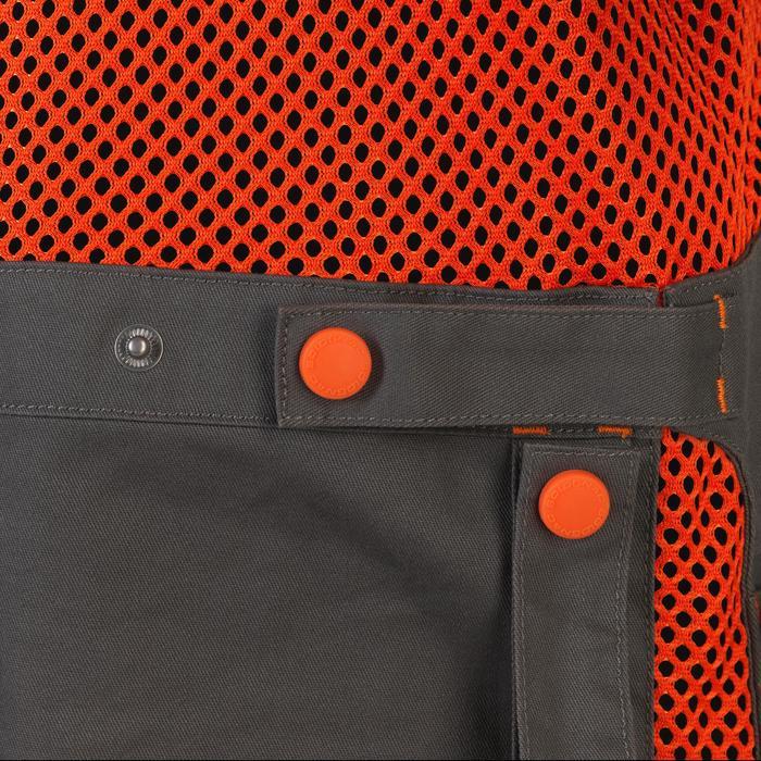 Jagdweste 500 Wurfscheibenschießen orange