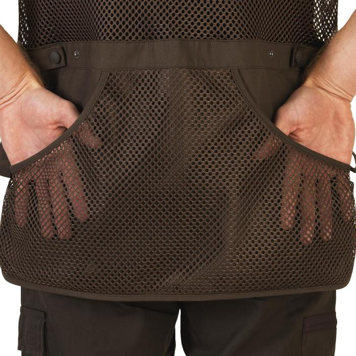 GILET BALL TRAP 500 MARRON