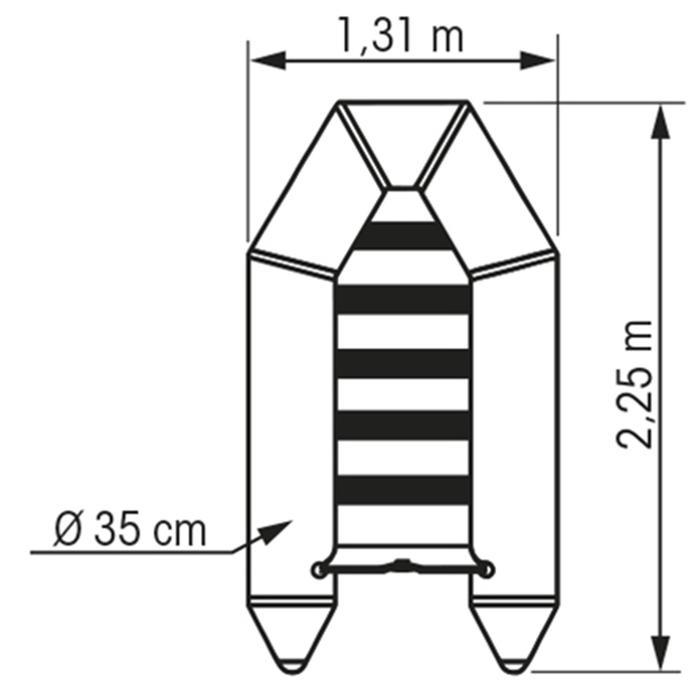 Opblaasbare bijboot Horizon 230 S Plastimo - 1123676