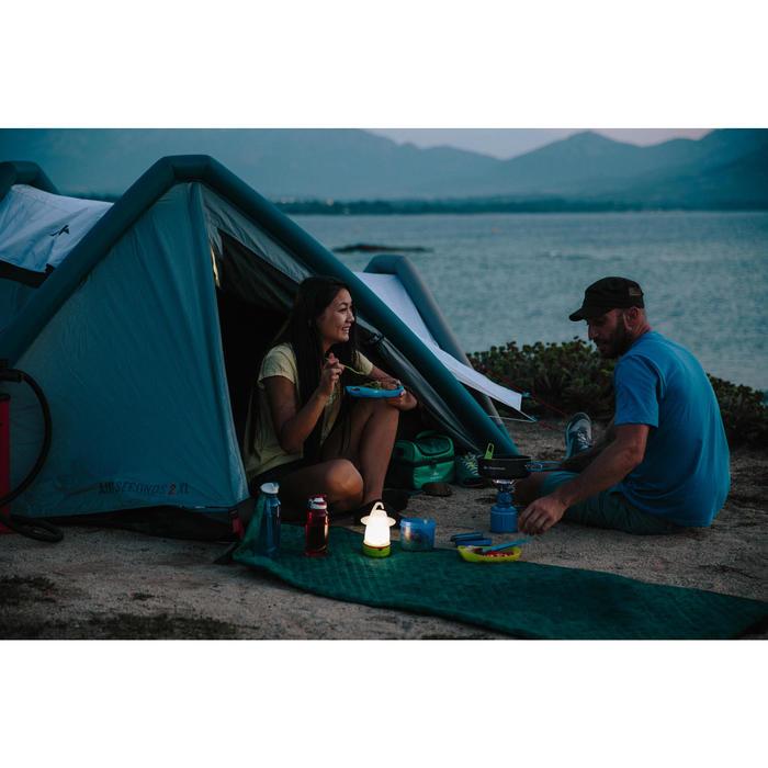Campingzelt aufblasbar Air Seconds 3 XL Fresh&Black für 3 Personen weiß