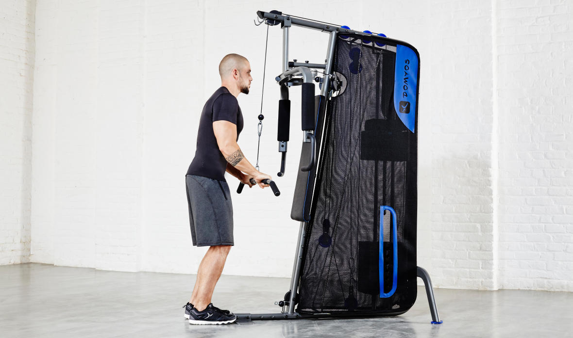 home gym compact exercices musculation
