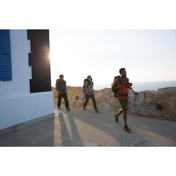 Chemise manches courtes trekking Arpenaz 500 femme beige imprimé - 1123913