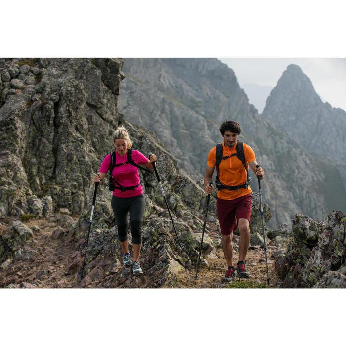 Legging de randonnée rapide Femme FH500 Helium Gris chiné - 1123943