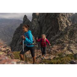 Women's MH500 mountain walking Capri pants - Black
