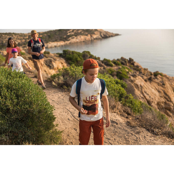 Camiseta de senderismo niños Hike 500 blanco