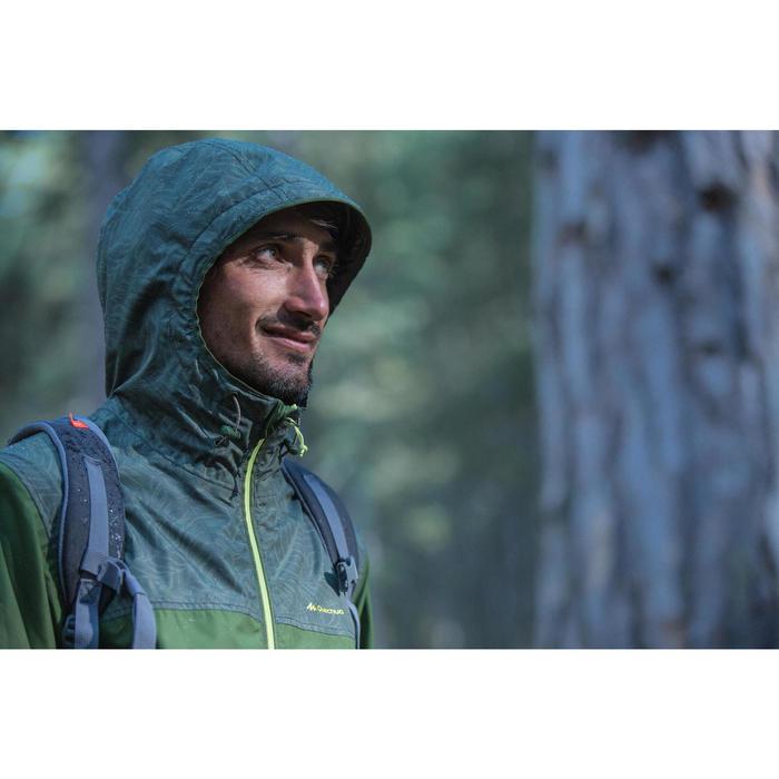 Chaqueta impermeable senderismo en la naturaleza NH100 verde hoja hombre