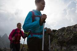 Windjack trekking Helium Wind 500 uv-werend dames met opdruk - 1124028
