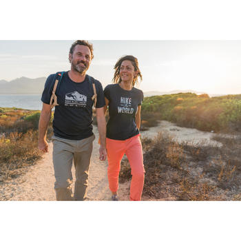 Heren T-shirt voor natuurwandelen NH500 marineblauw
