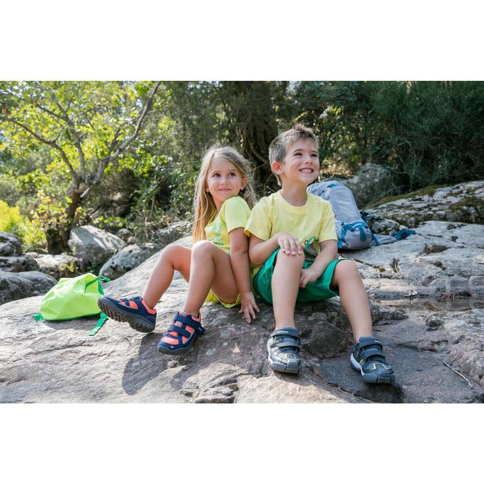 Chaussures de randonnée enfant NH100 imperméables Bleu Corail - 1124076