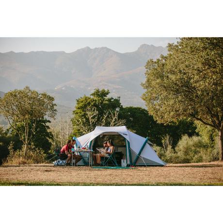 tente de camping familiale air seconds family 4 2 xl fresh black i 4 personnes quechua. Black Bedroom Furniture Sets. Home Design Ideas