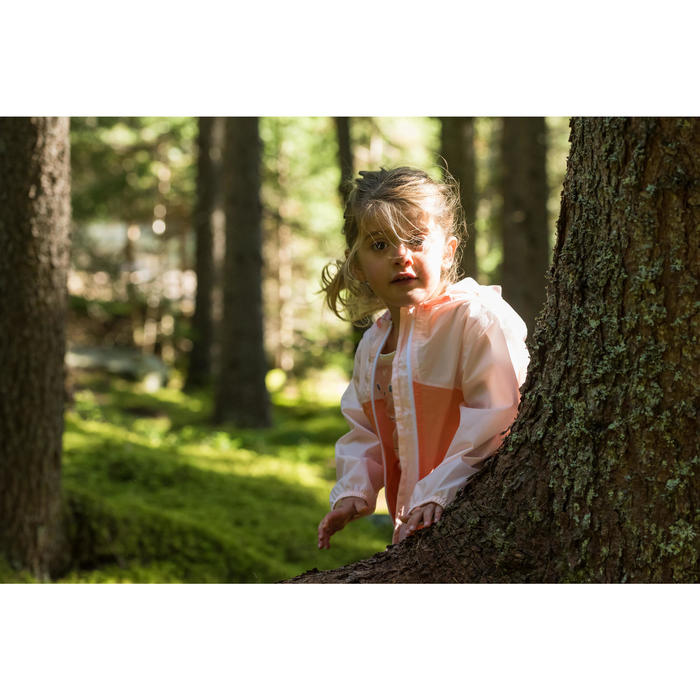 Veste imperméable de randonnée enfant Hike 150 gris imprimé tribal - 1124082