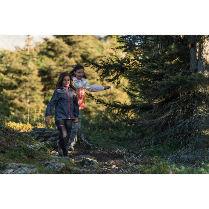 Veste imperméable de randonnée enfant Hike 150 gris imprimé tribal - 1124086