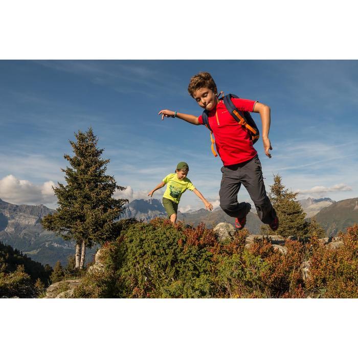 Zip-Off-Wanderhose Hike 900 Kinder Jungen schwarz