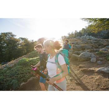 Tee-Shirt manches courtes de randonnée en montagne MH500 Femme - 1124104