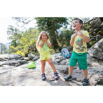 Chaussures de randonnée enfant NH100 imperméables Bleu Corail - 1124113
