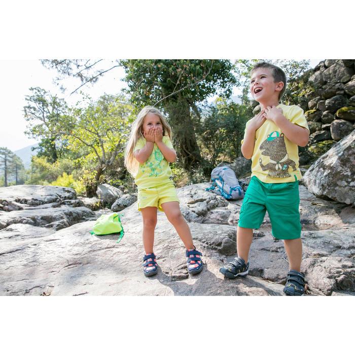 Wandelshort voor kinderen Hike 500 blauw