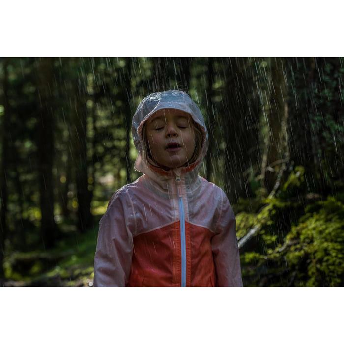 Veste imperméable de randonnée enfant Hike 150 gris imprimé tribal - 1124130