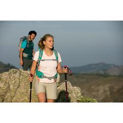 1 bâton réglage facile de randonnée nature | A200 noir