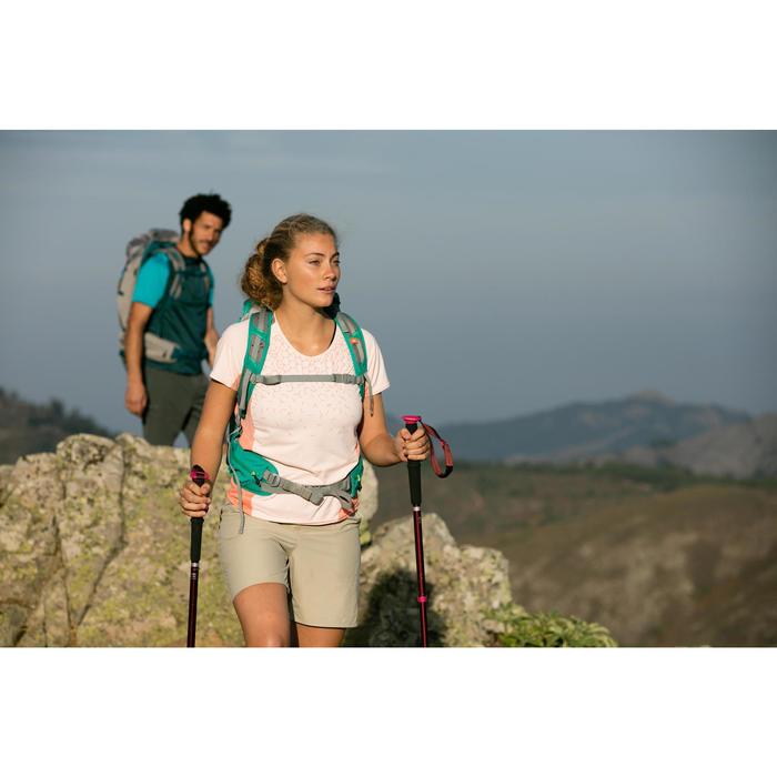 快調式郊野健行登山杖A200-黑色