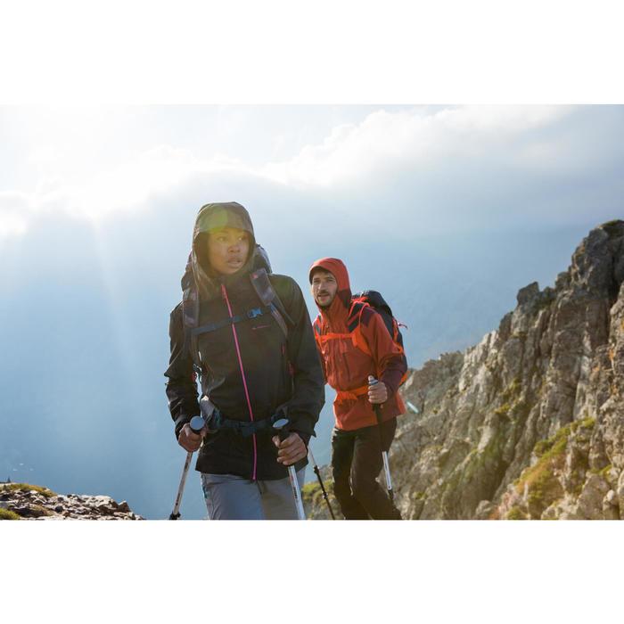 Wanderjacke Bergwandern MH900 wasserdicht Damen schwarz