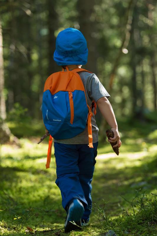 Mochila de hiking niños Arpenaz 7 Litros roja