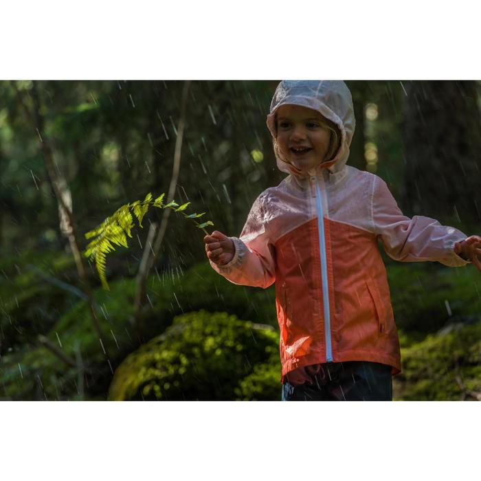 Veste imperméable de randonnée enfant Hike 150 gris imprimé tribal - 1124157