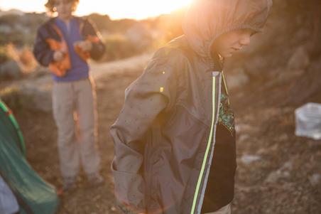 MH150 Jaket Pendakian Tahan Air Anak-Anak(7 hingga 15 Tahun) - Abu-Abu Navy