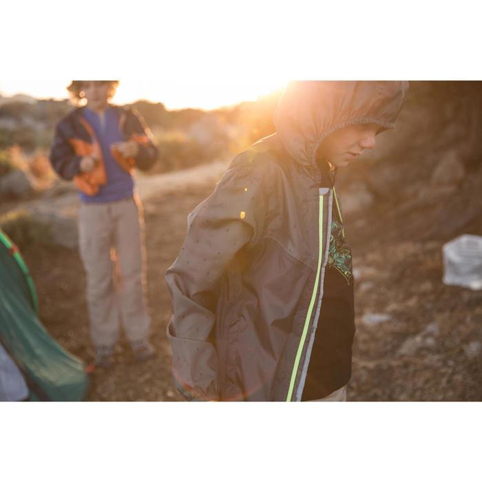 Chaqueta Impermeable Montaña y Trekking Niño 7 a 15 Años MH150 Turquesa