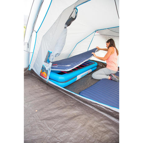 matelas gonflable de camping camp du randonneur air pump 140 2 pers bleu quechua. Black Bedroom Furniture Sets. Home Design Ideas