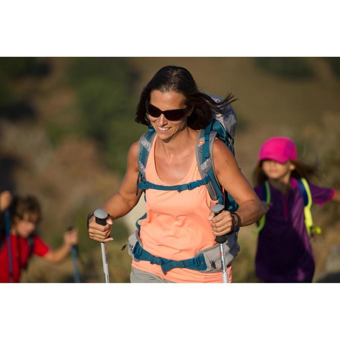 Camiseta sin mangas senderismo en montaña MH500 Mujer azul turquesa
