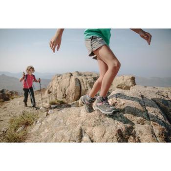 Botas de senderismo en montaña niños MH500 Mid impermeable Rojo