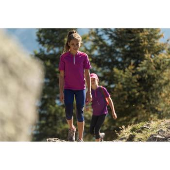Wanderleggings Hike 500 Kinder Mädchen violett