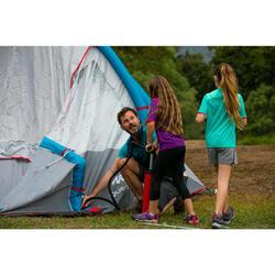 Zapatillas de senderismo niños Crossrock impermeables azul/naranja