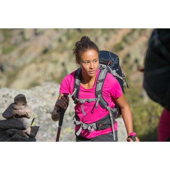 T-Shirt manches courtes de randonnée montagne MH100 femme Rose litchi
