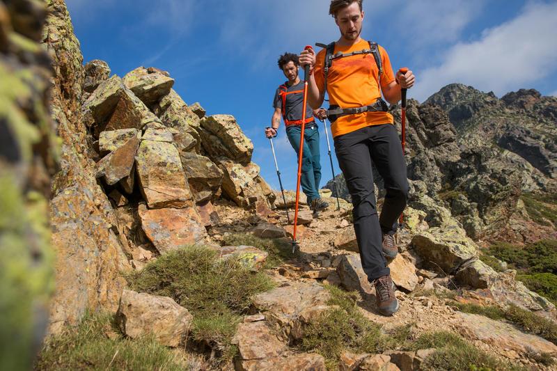 Men's mountain walking mid waterproof shoes MH100 – brown