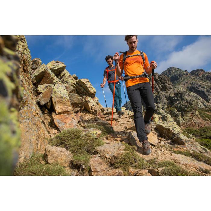 Wanderschuhe Bergwandern MH100 Mid wasserdicht Herren grau/orange