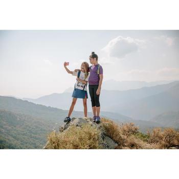 Meisjes T-shirt voor wandelen Hike 900 paars