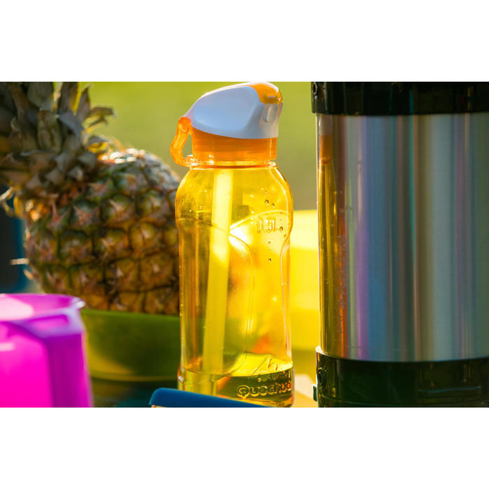 900 Tritan Plastic 0.8L Hiking Water Bottle with Instant Spout - Yellow