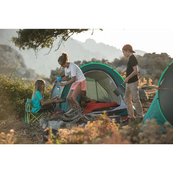 Saco Dormir Camping Quechua 10º Niños Rojo