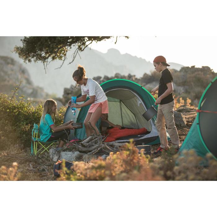 Schlafsack Camping Forclaz 10 °C Kinder grün