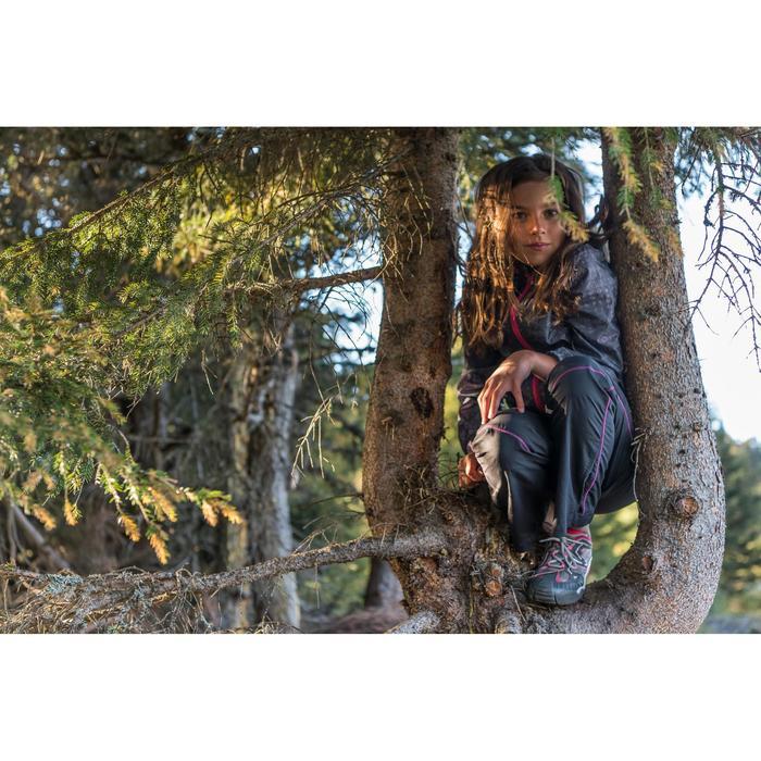 Wanderjacke Hike 150 Kinder Mädchen tribal grau