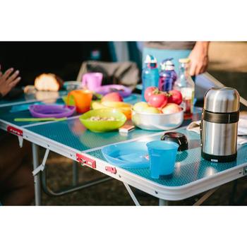 Assiette plate camp du randonneur plastique - 1124290