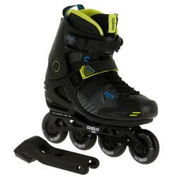 Skates voor volwassenen Freeride 5 softboot acid zwart