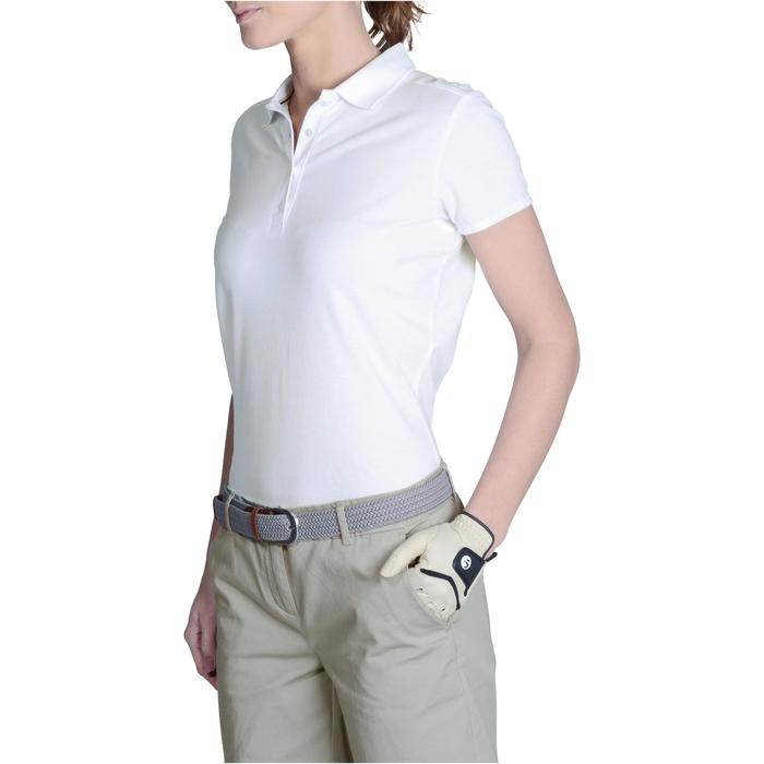 Golfpolo 500 met korte mouwen voor dames, zacht weer, wit