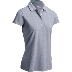 WOMEN'S GOLF POLO SHIRT LIGHT GREY