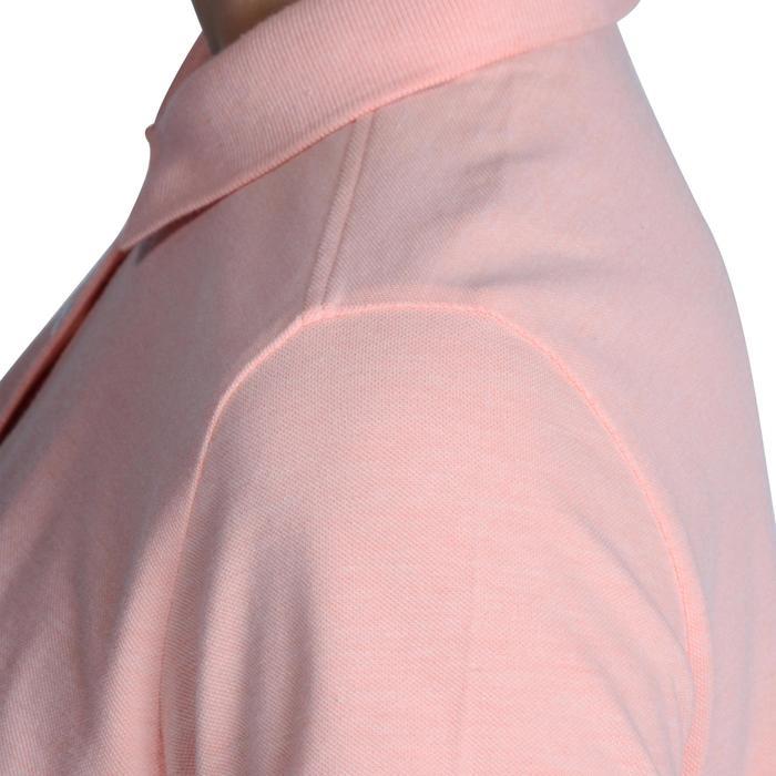 Golf Poloshirt 500 Kurzarm Damen rosa meliert