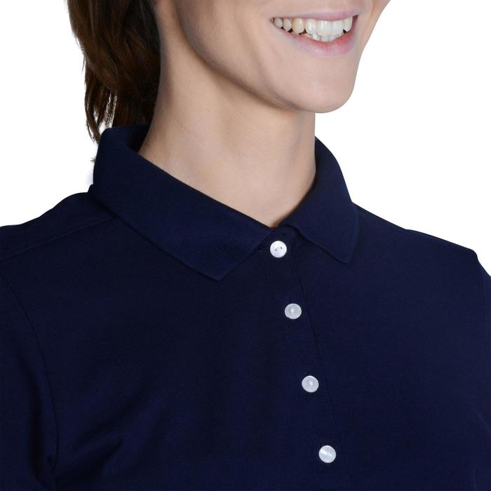 500 Women's Golf Short Sleeve Temperate Weather Polo Shirt - Navy Blue