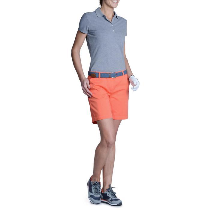 Golfpolo 500 met korte mouwen voor dames, zacht weer, gemêleerd grijs
