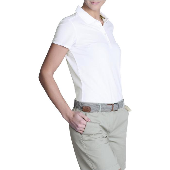 500 Women's Golf Short Sleeve Temperate Weather Polo Shirt - White
